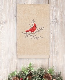 CLOSEOUT!  Christmas Cardinal 100% Turkish Cotton Hand Towel