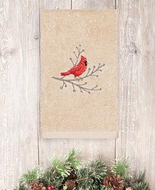 Linum Home Christmas Cardinal 100% Turkish Cotton Hand Towels