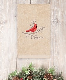 CLOSEOUT! Linum Home Christmas Cardinal 100% Turkish Cotton Hand Towels