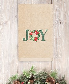 CLOSEOUT!  Christmas Joy 100% Turkish Cotton Hand Towel