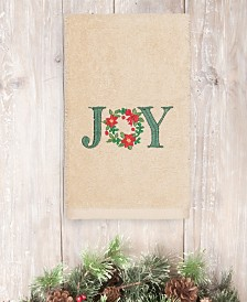 CLOSEOUT! Linum Home Christmas Joy 100% Turkish Cotton Hand Towels