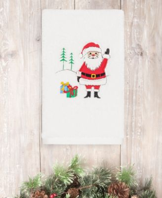 Christmas Santa Waving 100% Turkish Cotton 2-Pc. Hand Towel Set