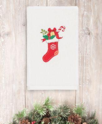 CLOSEOUT!  Christmas Stocking 100% Turkish Cotton 2-Pc. Hand Towel Set