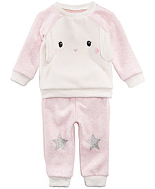 First Impressions Baby Girls Bunny Sweatshirt & Star Jogger Pants, Created for Macy's