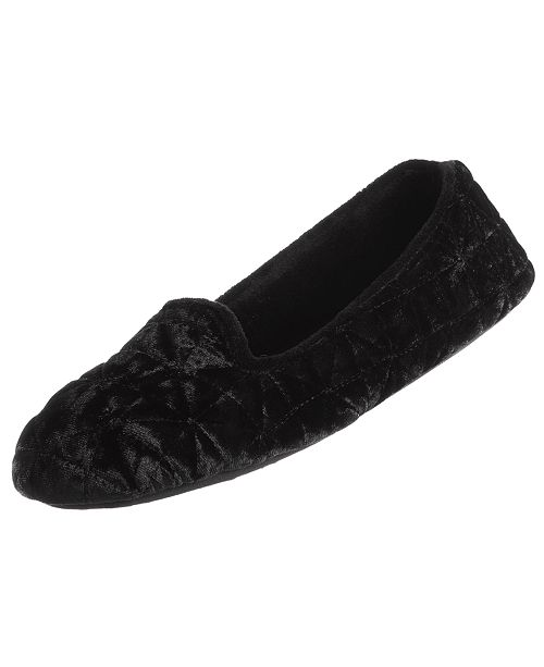 Isotoner Signature Isotoner Crushed Velour Closed-Back Slippers with Memory Foam, Online Only
