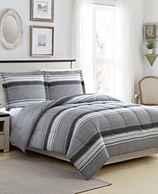 Linden 3-Pc. Reversible Full/Queen Comforter Set, Created for Macy's