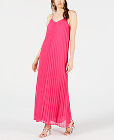 Bar III Pleated Maxi Dress, Created for Macy's