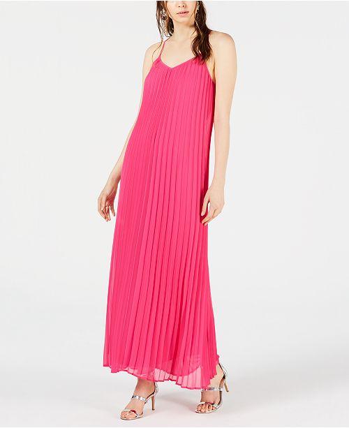 f67f17b47f88b Bar III Pleated Maxi Dress, Created for Macy's & Reviews - Dresses ...