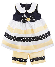 Bonnie Baby Baby Girls 2-Pc. Nautical Dress & Capri Set