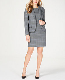 Anne Klein Plaid Blazer & Sheath Dress