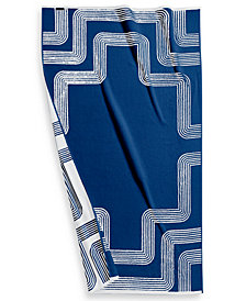 "Hotel Collection Borderline Turkish Cotton 40"" x 70"" Resort Towel, Created for Macy's"
