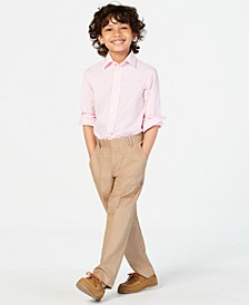 Stretch Fine Twill Pants, Little Boys