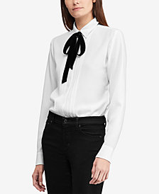 Lauren Ralph Lauren Triple-Georgette Shirt