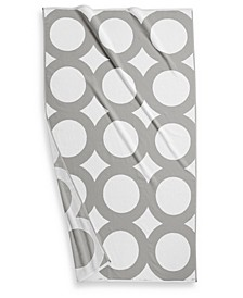 """CLOSEOUT! Circle Turkish Cotton 40"""" x 70"""" Geo Resort Towel, Created for Macy's"""