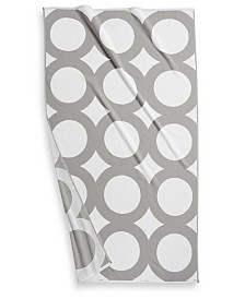 "CLOSEOUT! Hotel Collection Circle Turkish Cotton 40"" x 70"" Geo Resort Towel, Created for Macy's"