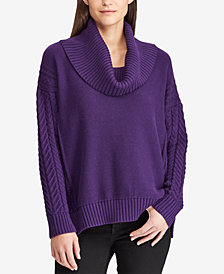 Lauren Ralph Lauren Cotton Cowl Neck Sweater