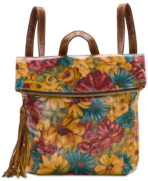 Patricia Nash Fresco Bouquet Convertible Luzille Backpack