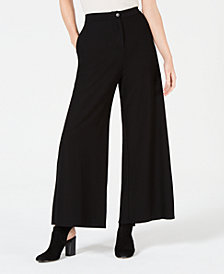 Eileen Fisher Washable Crepe High-Waist Ankle Pants