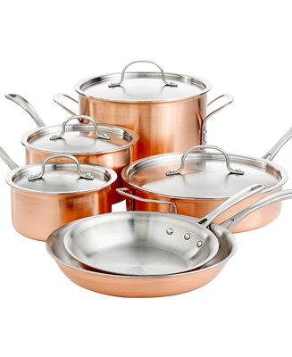 Calphalon Tri Ply Copper 10 Piece Cookware Set Cookware