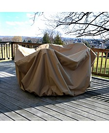 "All-Weather Protective Cover For 48"" Round Table and Chairs with Umbrella Hole"