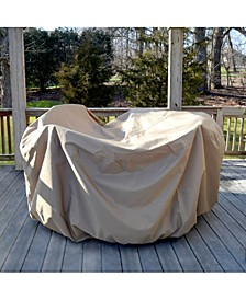 All-Weather Protective Cover For 54-In Round Table & Chairs With Umbrella Hole