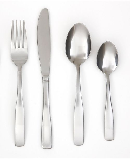 Cambridge Madison Satin 16-Piece Flatware Set with Caddy, Service for 4