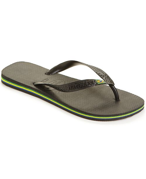 a34d75ebb06657 Havaianas Men s Brazil Flip-Flop Sandals   Reviews - All Men s Shoes ...