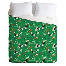 Deny Designs Holli Zollinger Anthology Of Pattern Seville Garden Green King Duvet Set
