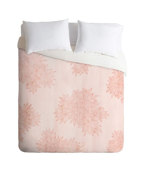 Deny Designs Iveta Abolina Beach Day Pink King Duvet Set