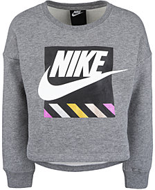 Nike Toddler Girls Futura Logo-Print Fleece Sweatshirt