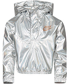 Nike Little Girls Sportswear Metallic Hoodie