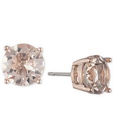 Marchesa Rose Gold-Tone Cubic Zirconia Stud Earrings