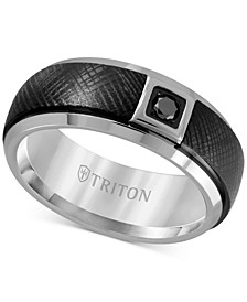 Diamond Band (1/10 ct. t.w.) in Black & White Tungsten Carbide