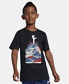 Nike Big Boys Sneaker-Print Cotton T-Shirt