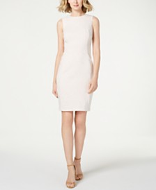 Calvin Klein Petite Zigzag Jacquard Sheath Dress