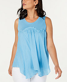 Style & Co Handkerchief-Hem Swing Top, Created for Macy's