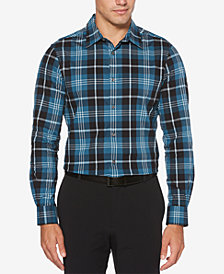 Perry Ellis Men's Classic Plaid Shirt