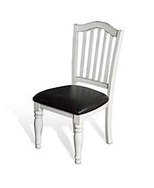 Bourbon County French Country Slatback Chair, Cushion Seat