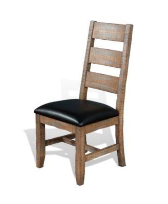 ... Sunny Designs Puebla Driftwood Ladderback Chair, Cushion Seat ...