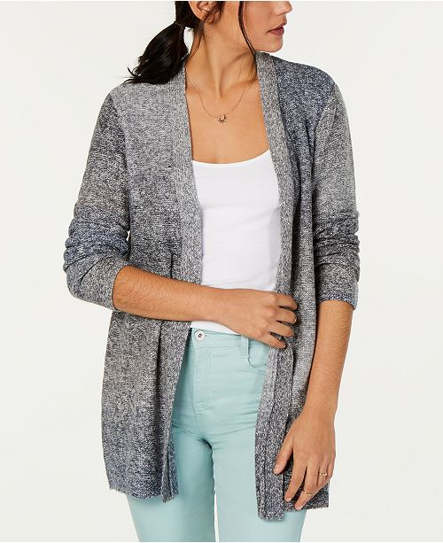 Style & Co Petite Ombrè Open-Front Cardigan, Created For Macy's