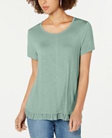 Style & Co Ruffled-Hem Top, Created for Macy's