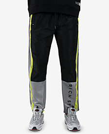 Rich Star Men's Sporty Colorblocked Track Pants
