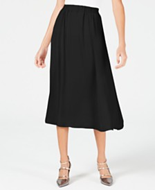 Alfani Petite Washed-Satin A-Line Skirt, Created for Macy's
