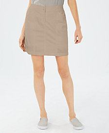 Karen Scott Knit Waist Band Skort, Created for Macy's