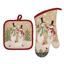 Avanti Tall Snowmen Oven Mitts and Pot Holders, Set of 2