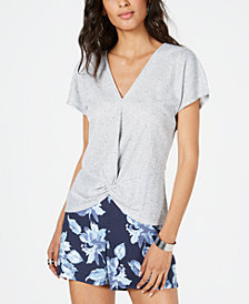 I.N.C. V-Neck Twist-Front Top, Created for Macy's