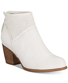 White Mountain Galveston Block-Heel Booties