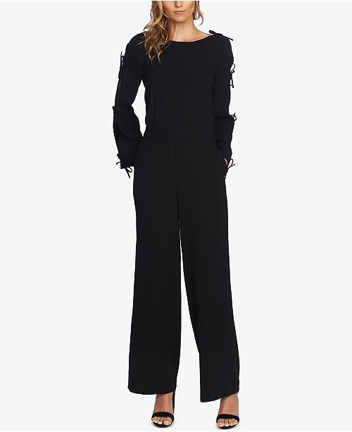 81d077be7b9f CeCe Bow-Sleeve Wide-Leg Jumpsuit   Reviews - Dresses - Women - Macy s
