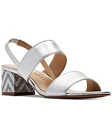 Annalie Smooth Metallic Sandals
