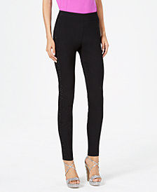 Thalia Sodi Sparkle-Side Skinny Pants, Created for Macy's